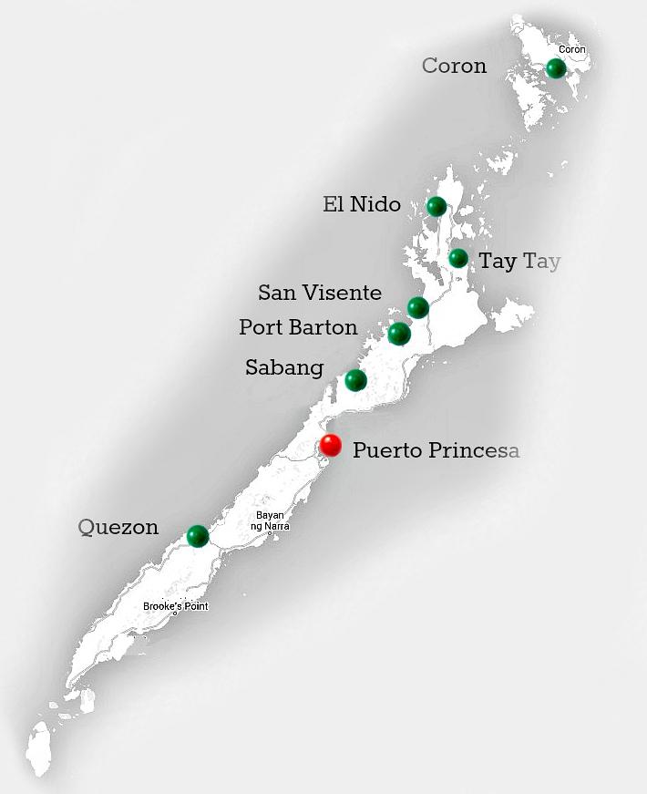 остров палаван карта