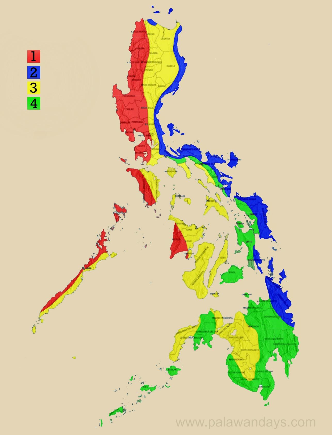 Погода на Филиппинах. Климат на острове Палаван.