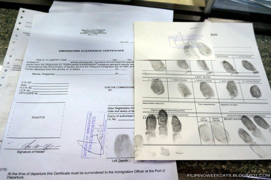 Получаем разрешение на выезд в Маниле
