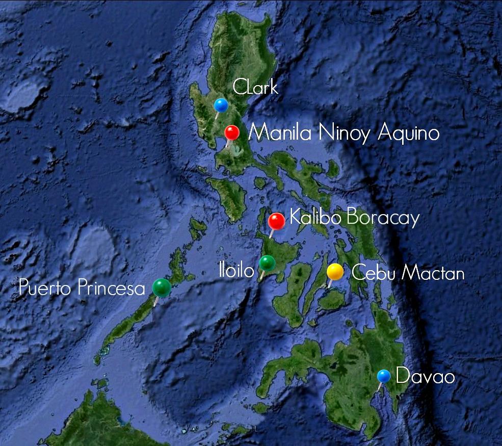 аэропорты Филиппин, как спланировать маршрут